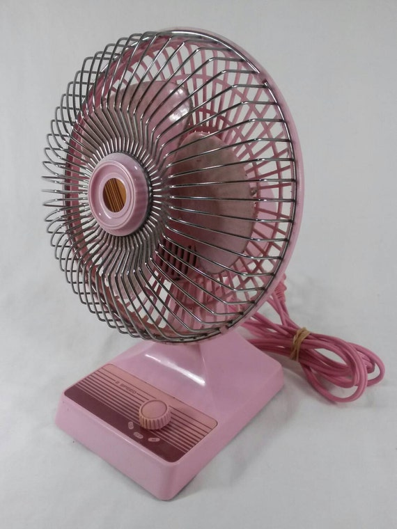 Vintage Pink Desk Fan Retro