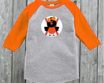 Baltimore Orioles Inspired Baseball Tee for Girl