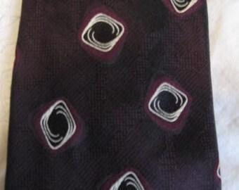 Vintage Talbott Studio Nordstrom Necktie Neck Tie Geometric Handsewn Hand Sewn Tie  Made USA American 57 x 4