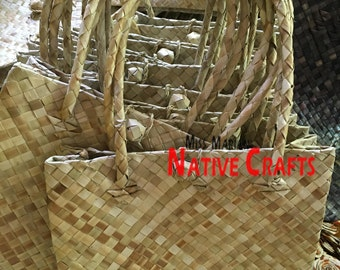 Lauhala Kete Gift Bags with Lock, Made to Order (Minimum order = 20 pcs)