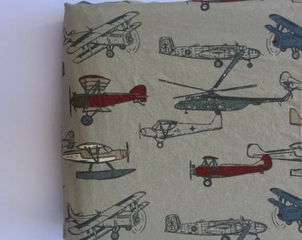 Changing Pad Cover - Vintage Airplanes