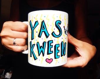 YAS KWEEN mug, Broad City Coffee Mug, Best friend gift, kween, funny mug, tv show, gift