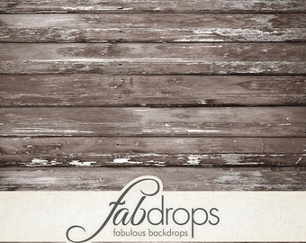 4x5 Weathered Chocolate Painted Wood Backdrop | Old peeling brown wood backdrop for photos - Fab Vinyl 4x5 ft (FV0557)
