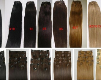 100% Remy Human Hair Clip In Weft