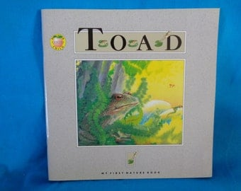 vintage 1993 Toad book by Andrienne Soutter-Perrot Brighter Child's Series My First Nature Book