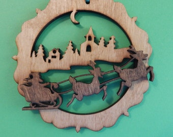 Santas Sleigh Christmas Ornament