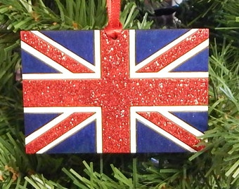 British Union Jack - United Kingdom Flag Christmas Ornament