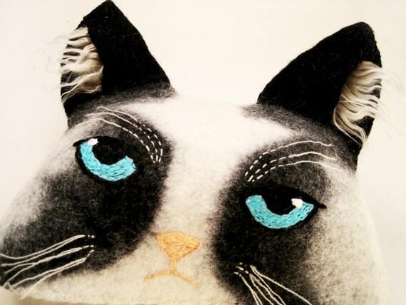 sauna hat grumpy cat ears hat. Black Bedroom Furniture Sets. Home Design Ideas