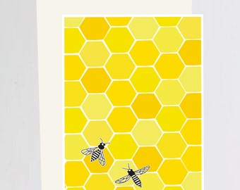 Greeting Card Honey Bee