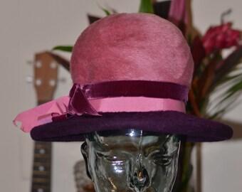 Vintage Estate Mr Dennis Shades of Purple Hat