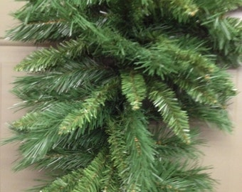 Christmas Greenery Pine Tear Drop has a hook made in the top Use this full Base for a beauriful Door, Wall or any space you want to create