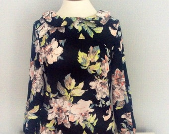 Floral peter pan collar 1960s  vintage dresses
