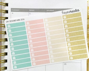 Birthday stickers for Day Designer Mini