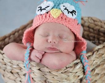 Owl hat, baby owl hat, newborn owl hat, toddler owl hat, adult owl hat, owl baby hat, woodland baby hat, crochet owl hat, bright owl hat
