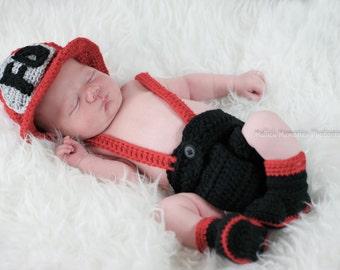 Fireman outfit, fireman set, baby fireman, fireman hat, fireman photo prop, infant fireman, fireman costume, fireman clothes, fireman boots