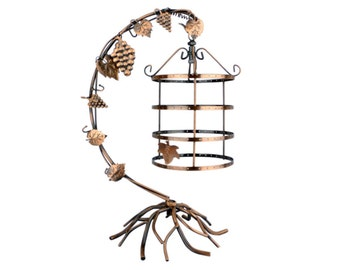 4 Tier Bird Cage Décor Rotating Table Top Earrings Organizer / Necklace Jewelry Display Stand