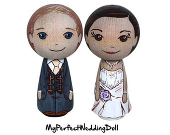 Cake Topper/Posh Wedding/Anniversary gift/Bespoke item/Bride and Groom  - 6.5 cm tall