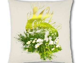 Nature Rabbit Design Cushion Cover (C783)