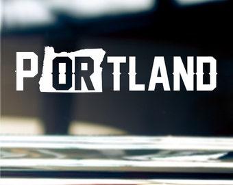 Portland Oregon State Sticker For Car Window, Bumper, Or Laptop