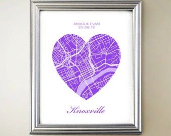 Knoxville Heart Map