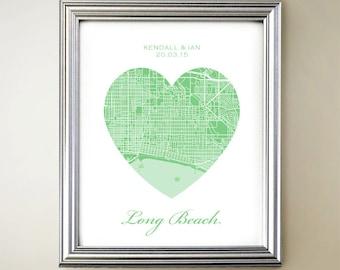 Long Beach Heart Map