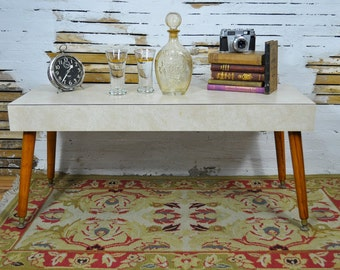 Captivating Mid-Century Formica Coffee Table  / Please convo for a shipping quote - shipping is not free.