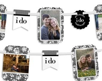 I Do - Wedding Photo Garland Banner - Custom Party Decorations