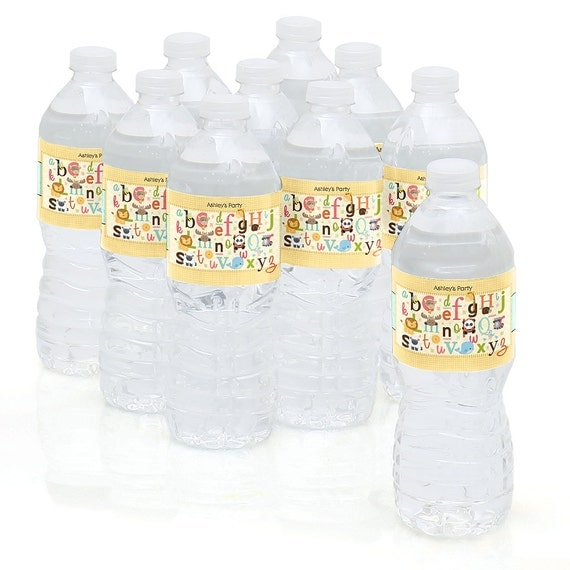 10 A Is For Alphabet Water Bottle Sticker Labels