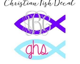 Christian Fish Decal