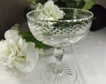 Bon Bon, Vintage Stuart Crystal Bon Bon Dish ( 2 Available)