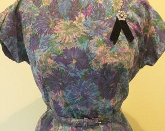 Plus Size 1950's Floral Dress