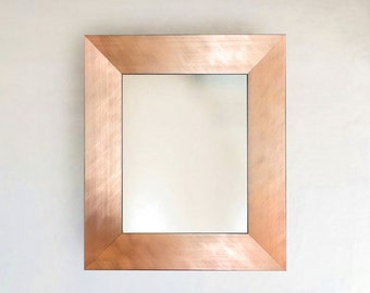 Brushed Copper Rosegold Metallic Finish Framed Mirror (12 1/4 x 14 1/4)(15 1/4 x 19 1/4)(26 1/4 x 30 1/4)(28 1/4 x 30 1/4) + More Sizes!