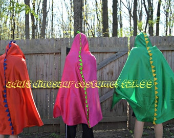 Adult Dinosaur Cape Costume. Adult Cape.  Dinosaur Costume for Adult. Adult Costume. Teen Costume. Science Lover Gift. Tween Costume.