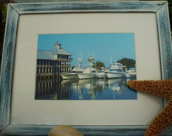 Framed Beach Photography, Marina, Wall Art, Coastal Decor, Beach Decor,  Beach