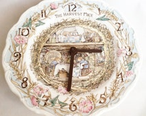 Unique Plate Wall Clock Related Items Etsy