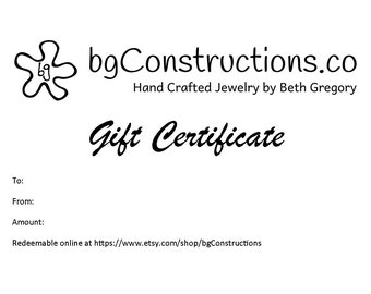 Gift Certificate - Fifty Dollars