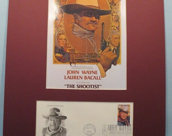 "John Wayne in his last film - ""The Shootist"" & First Day Cover of his own stamp"