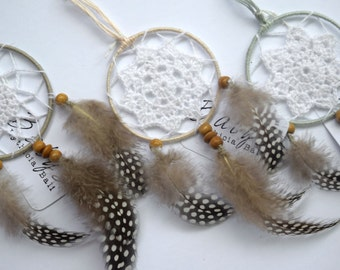 Dreamcatcher favors, small dreamcatchers, wedding accessories, party favors, guests gift, wedding gifts, party gifts, kids party gifts