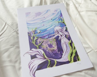 The Little Mermaid A4 Art Print