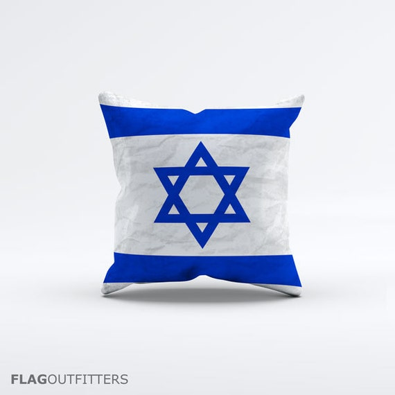 15 Inch Throw Pillow Covers : Flag of Israel Throw Pillow Cover 15 x 15 inch