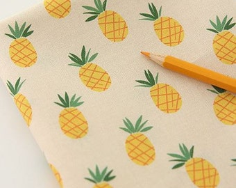 Pineapple Pattern Digital Printing Cotton Fabric by Yard