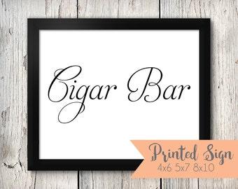 Cigar Bar Wedding Sign, Cigar Bar Wedding Signage, Wedding Signs (73-SR)