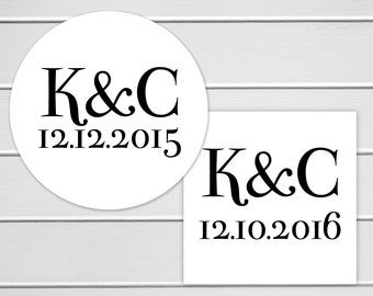 Wedding Stickers, Save The Date Wedding Stickers, Thank You Labels, Envelope Seals  (#157)