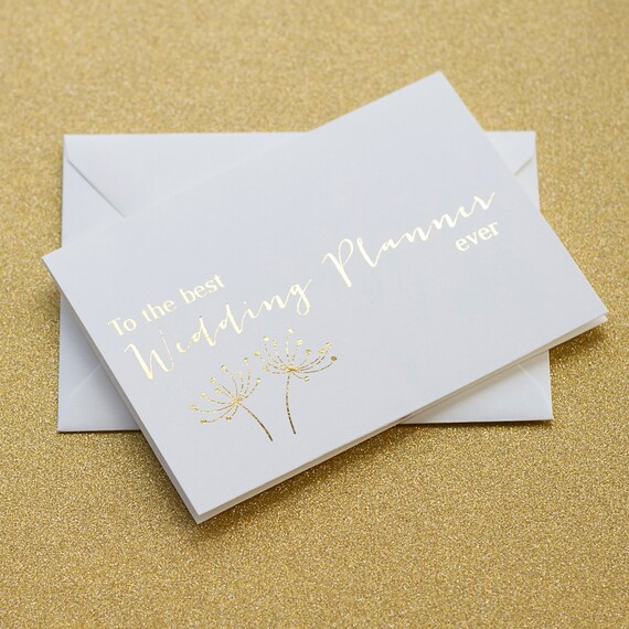 Thank You Gift To Wedding Planner : Wedding Planner Thank You Card, Wedding Planner Card, Wedding Day ...