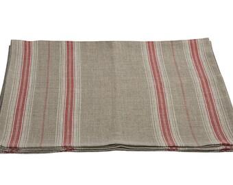 Linen placemats - Table platemats SET - rustic placemats - french placemats - striped placemats - natural placemats