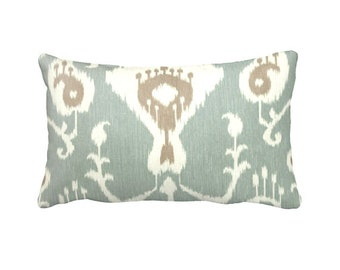 7 Sizes Available: Green Throw Pillow Cover Decorative Pillow Aqua Pillow Sea Foam Green Pillow Green Pillow Ikat Pillow
