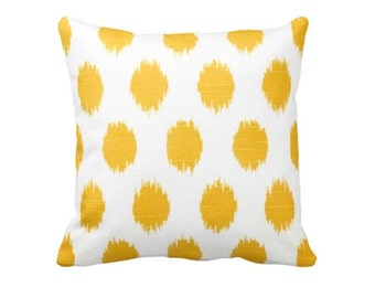 Yellow Pillow Cover Yellow Throw Pillow Cover Yellow Ikat Pillow Decorative Pillows Yellow Pillow Case Cushion Covers Yellow Toss Pillows