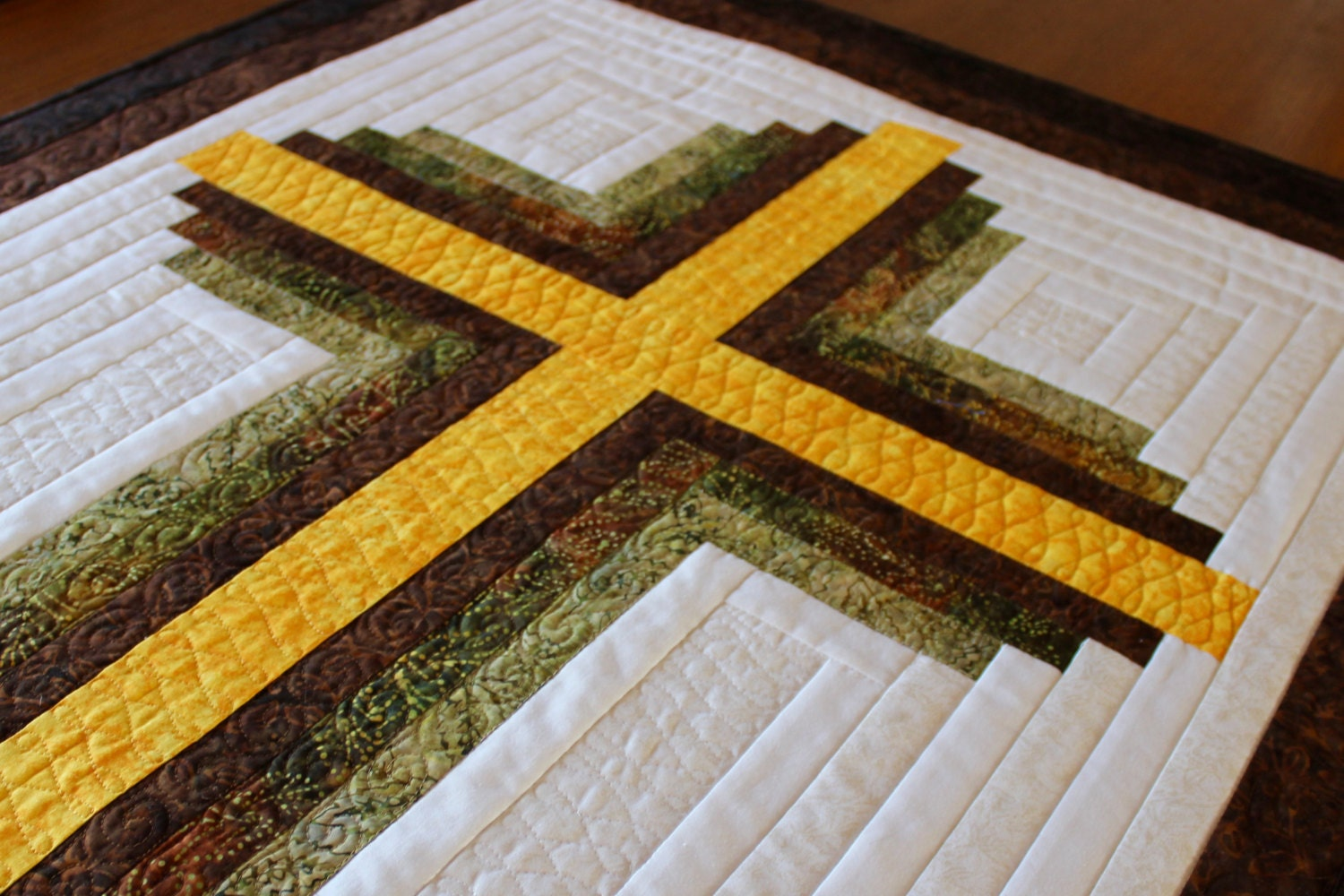 Cross Quilt Pattern Log Cabin Christian Cross Twin Size