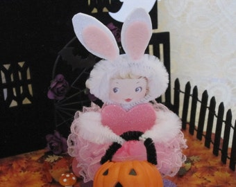 Halloween Bunny Bump Chenille Paper Doll
