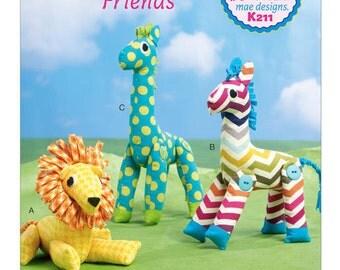 Ellie Mae Designs Pattern K0211 Stuffed Animal Toys